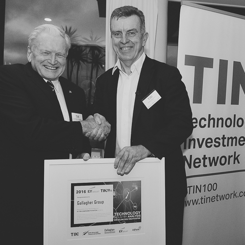 TIN100 Report Launch - Sir William Gallagher receiving an award