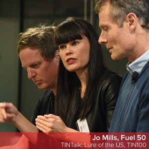Jo Mills of Fuel50 speaks at New Zealand's Technology Investment Network event, Lure of the US